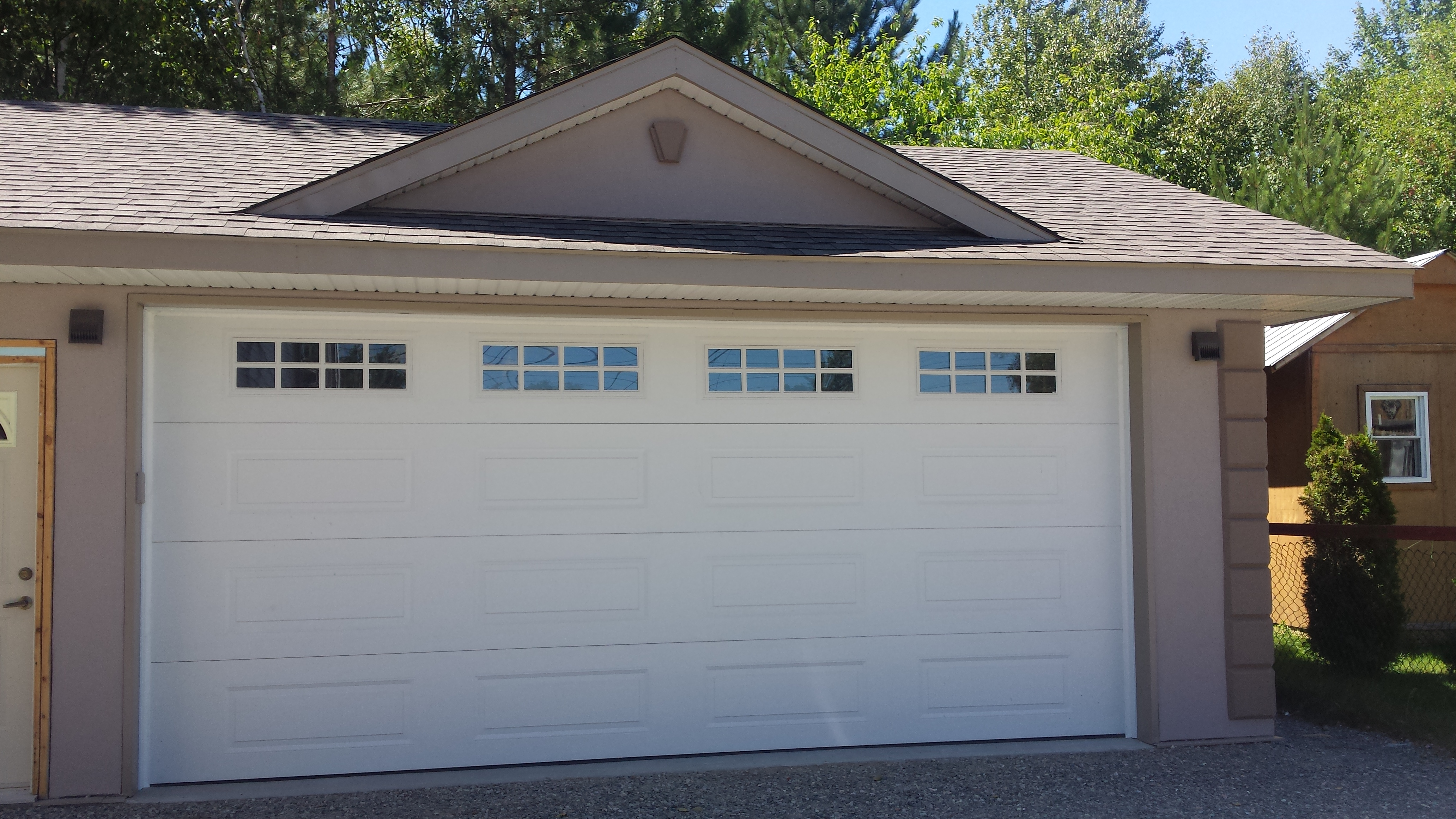 magicbrush magic a our new garage brush doors the makeover