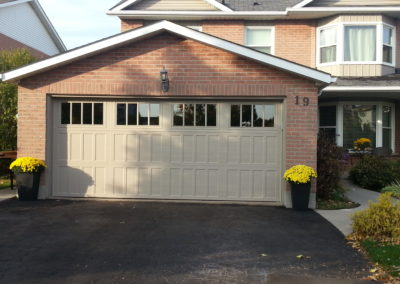 3-section high custom garage door