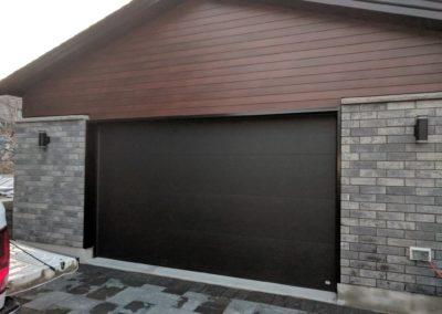 Solid garage doors